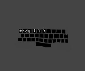 A QWERTY keyboard
