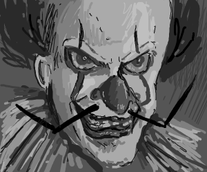 pennywise with a mustache