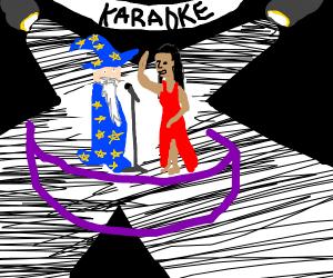 wizard does karaoke to Rihanna