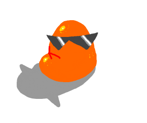 orange lump with glasses