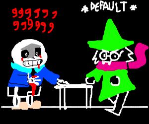 Ralsei does the Default Dance and kill Sans