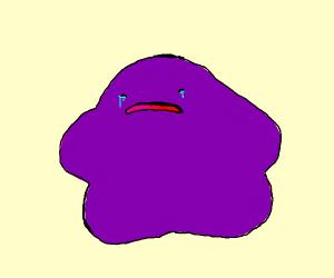 Purple blob cries