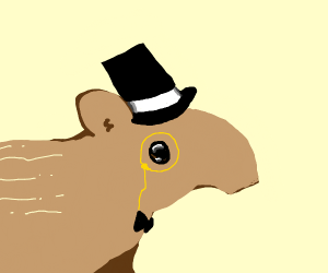 Tapir with a top hat