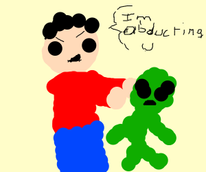 human abducting alien