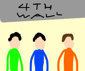 3 boys stare at the 4th wall