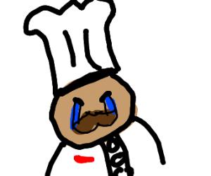 Chef cries