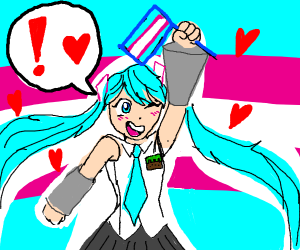 Miku supports Trans rights!