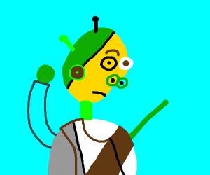 Picasso-style Shrek