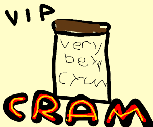 a VIP (or some very berry cram)