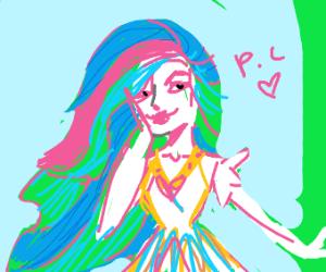 Princess Celestia as a human