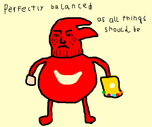 Thanos is red sonic