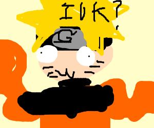 Naruto Uzamaki doing the whip