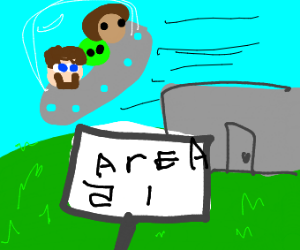 Minecraft Steve raids Area 51