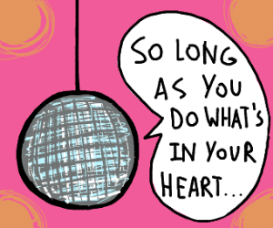 Inspirational disco ball