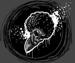 Demon with Afro in a black hole (omgsopretty)