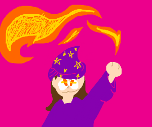 magic elf Huge fireball spell