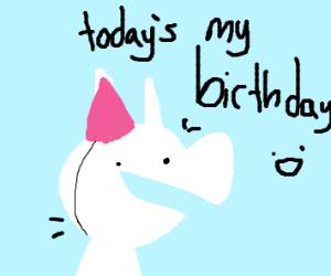 its bunny's birthday
