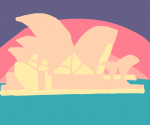 Sydney Opera House in the sunset
