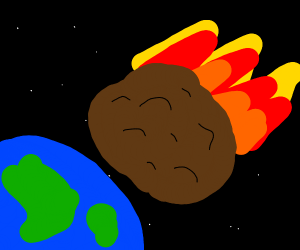 giant meatball meteor crashes into earth