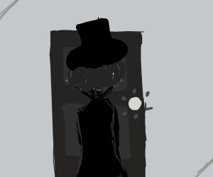 Well-dressed man knocks on bedroom door