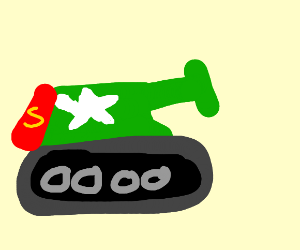 New superhero: Supertank! With cape!