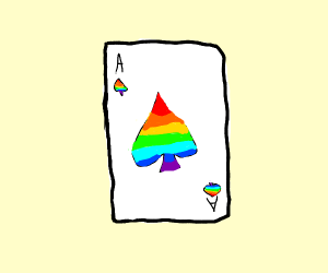 rainbow ace of spades