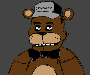 Fnaf freddy is  security  Guard