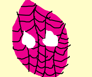 pink spider-man (zoomed in)