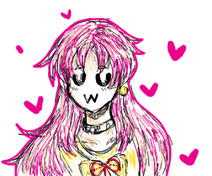 Pink haired kawaii uwu anime girl
