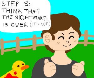 Step 7: Feed the cadaver-eating pigs to ducks