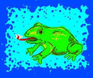Frog eats people