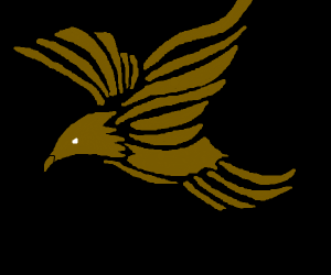 a brown bird spreading its wings and soaring