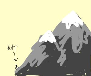 Ant climbs a mountain