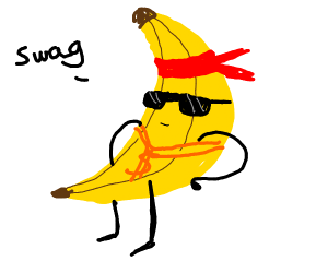 bananaman has swag