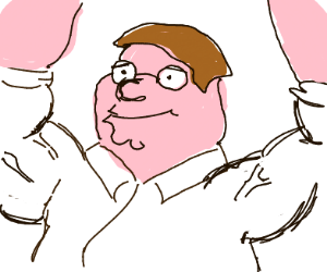 peter griffin with big arms