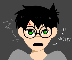 """Harry Potter asks """"i'm a what?"""""""
