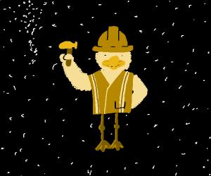 Duck Construction worker