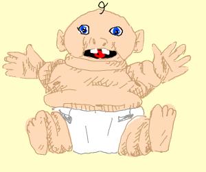Fat baby just wants a hug