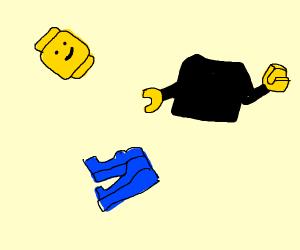 Disassembled lego man