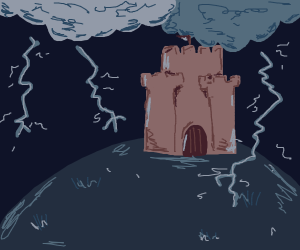 Castle in a thunderstorm