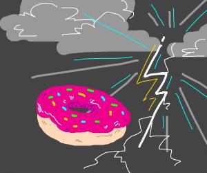 Donut in Thunderstorm