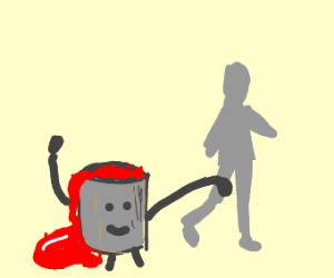 Bucket grabs man's leg