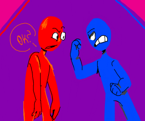 Blue guy and red guy