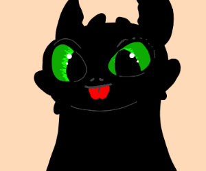 Toothless is kawaii