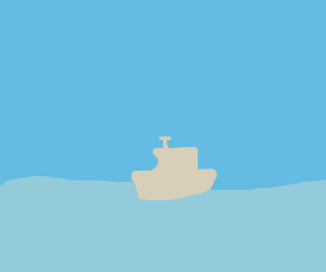 Ship on the water