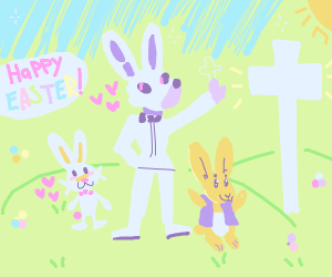 Easter Bunny On A Cross
