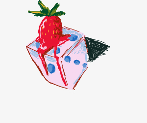 strawberry flavoured dice