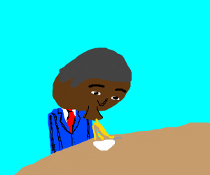 Obama eating cereal