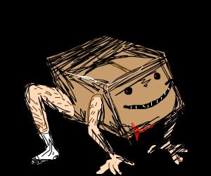 Amazon box with hairy feet..