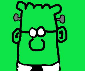 Dilbert turns into Frankenstein